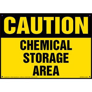 Caution: Chemical Storage Area Sign - OSHA