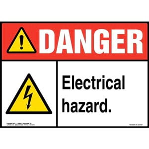Danger: Electrical Hazard - ANSI Sign