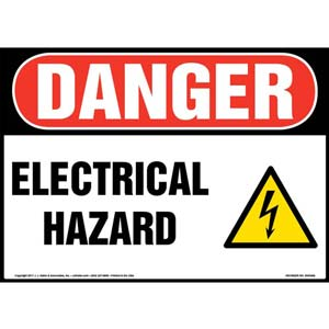 Danger: Electrical Hazard - OSHA Sign