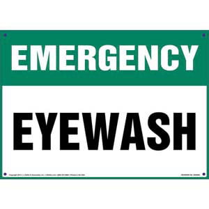 Emergency: Eye Wash Sign