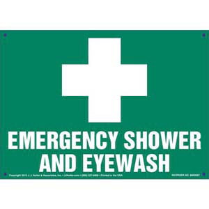 Emergency Shower And Eye Wash Sign