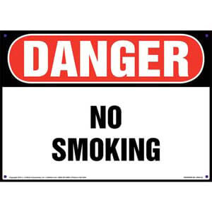 Danger: No Smoking Sign - OSHA