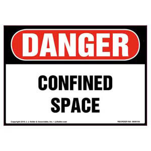 Danger: Confined Space Label - OSHA