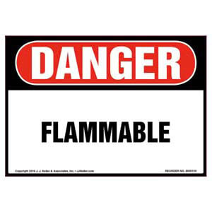 Danger: Flammable Label - OSHA