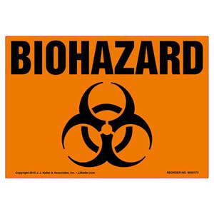 Biohazard Label with Icon