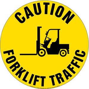 Caution: Forklift Traffic Sign