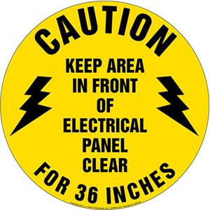 Caution Keep Area In Front Of Electrical Panel Clear Sign