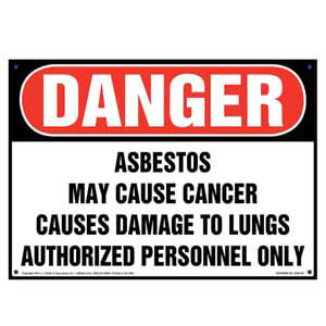 Danger: Asbestos, Authorized Personnel Only Sign - OSHA