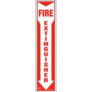 Fire Extinguisher Sign - Down Arrow, Vertical