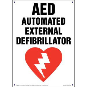 AED, Automated External Defibrillator Sign