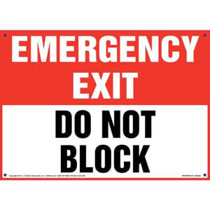 Emergency Exit: Do Not Block Sign