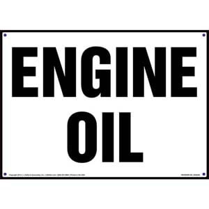 Engine Oil Sign
