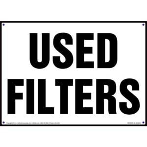 Used Filters Sign