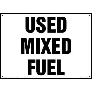 Used Mixed Fuel Sign