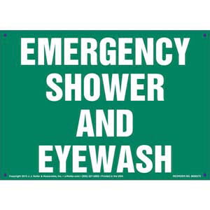 Emergency Shower & Eyewash Sign