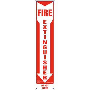 Fire Extinguisher, Do Not Block Sign - Vertical