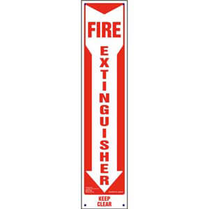 Fire Extinguisher, Keep Clear Sign - Vertical