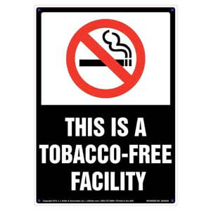 This Is a Tobacco-Free Facility Sign