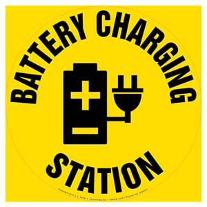 Battery Charging Station - Floor Sign