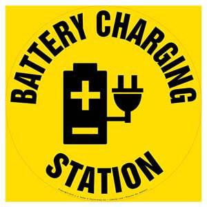 Battery Charging Station - Floor Sign
