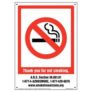 Arizona: Thank You For Not Smoking Sign