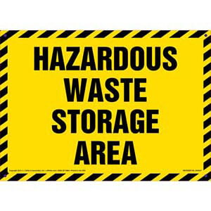 Hazardous Waste Storage Area Sign