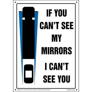 If You Can't See My Mirrors I Can't See You Sign - Portrait