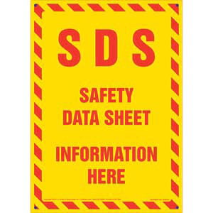 SDS Safety Data Sheet Information Here Sign