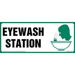 Eye Wash Station Sign