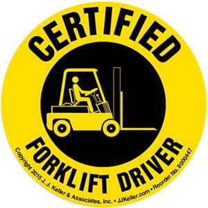 Certified Forklift Driver Hard Hat/Helmet Decal