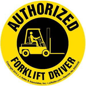 Authorized Forklift Driver Hard Hat/Helmet Decal
