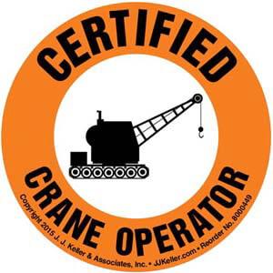 Certified Crane Operator Hard Hat/Helmet Decal