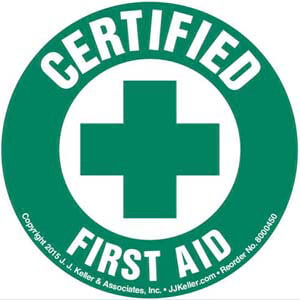 Certified First Aid - Hard Hat/Helmet Decal