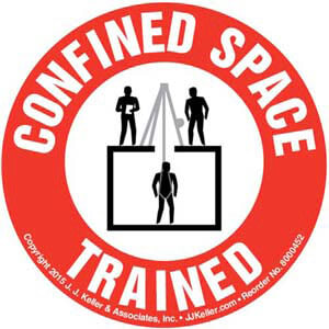 Confined Space Trained Hard Hat/Helmet Decal