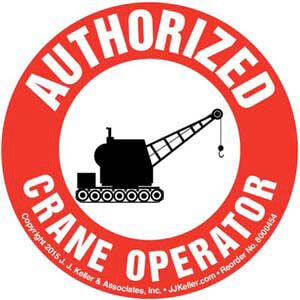Authorized Crane Operator Hard Hat/Helmet Decal