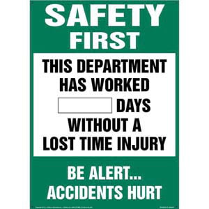 Safety Starts With You - Write-A-Day Scoreboard
