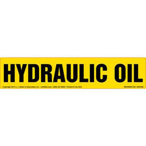 Hydraulic Oil Label