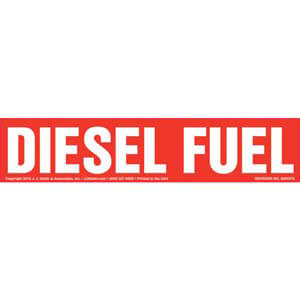 Diesel Fuel Label - Red