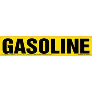 Gasoline Label - Yellow