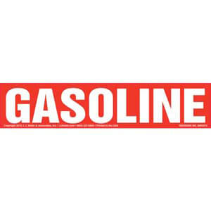 Gasoline Label - Red