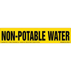 Non-Potable Water Label
