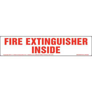Fire Extinguisher Inside Label - Long Format