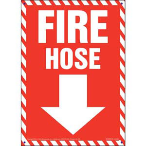 Fire Hose Sign - Striped Border