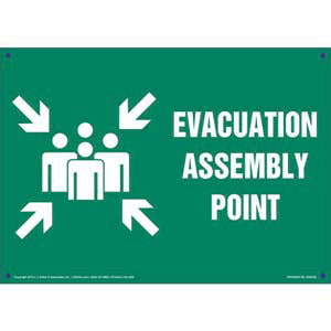 Evacuation Assembly Point Sign with Icon