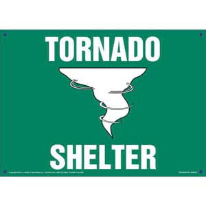 Tornado Shelter Sign with Icon