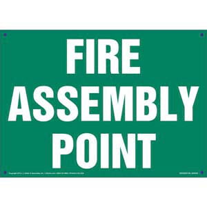 Fire Assembly Point Sign - Green