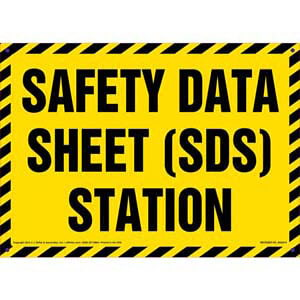 Safety Data Sheet (SDS) Station Sign