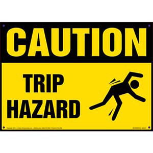 Caution: Tripping Hazard - OSHA Sign