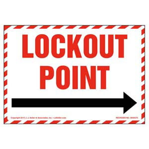 Lockout Point For _ Label