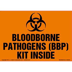 Bloodborne Pathogens (BBP) Kit Inside Label
